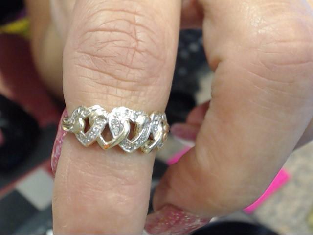 Lady's Diamond Fashion Ring 30 Diamonds .30 Carat T.W. 10K Yellow Gold 3dwt