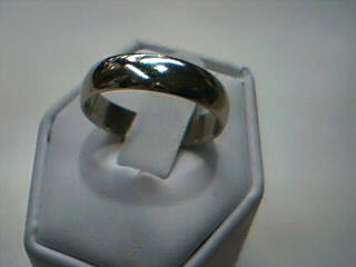 Gent's Gold Wedding Band 14K White Gold 4.4g Size:9.5