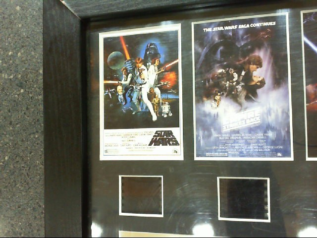 2005 THE HISTORY OF STAR WARS ORIGINAL FILM CELL PLAQUE