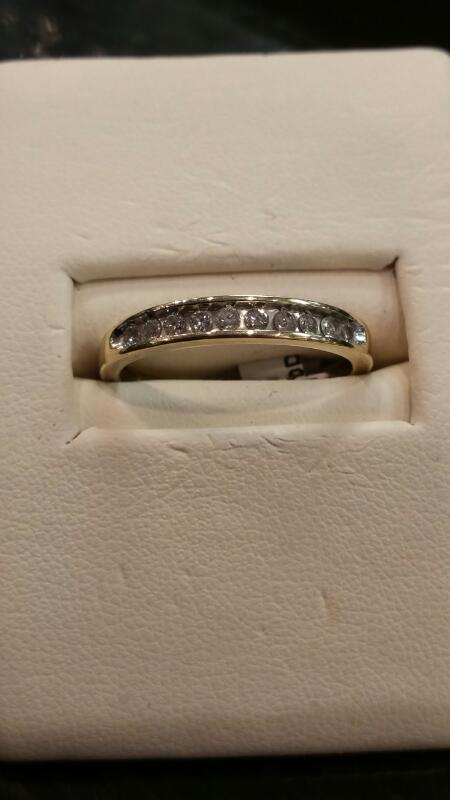 Lady's Diamond Fashion Ring 10 Diamonds .10 Carat T.W. 10K Yellow Gold 1.1dwt