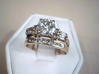 Lady's Diamond Wedding Set 18 Diamonds 1.76 Carat T.W. 14K Yellow Gold 3.8g