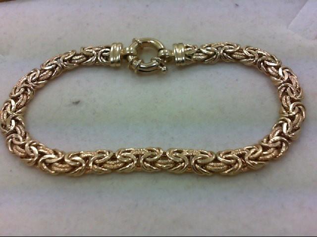 Gold Turkish Bracelet 14K Yellow Gold 8.1g