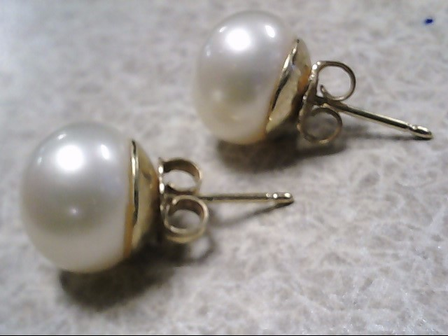 Pearl Earrings 14K Yellow Gold 2g