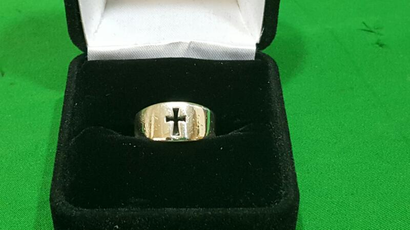 James Avery Narrow Crosslet Lady's Silver Ring 925 Silver 4.5g Size:3.5
