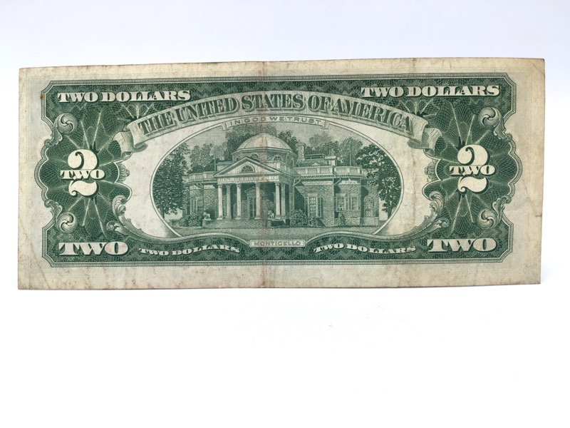 1963 $2 Two Dollar Red Seal Note - Nice Bill - Double A Serial