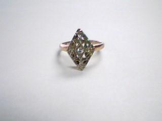 Lady's Diamond Fashion Ring .05 CT. 10K Yellow Gold 1.9g Size:4