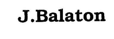 J. BALATON