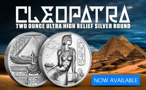 2 OZ ULTRA HIGH RELIEF SILVER ROUND EGYPTIAN GOD