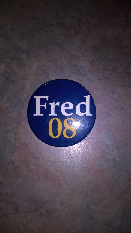 FRED 08 POLITICAL BUTTON