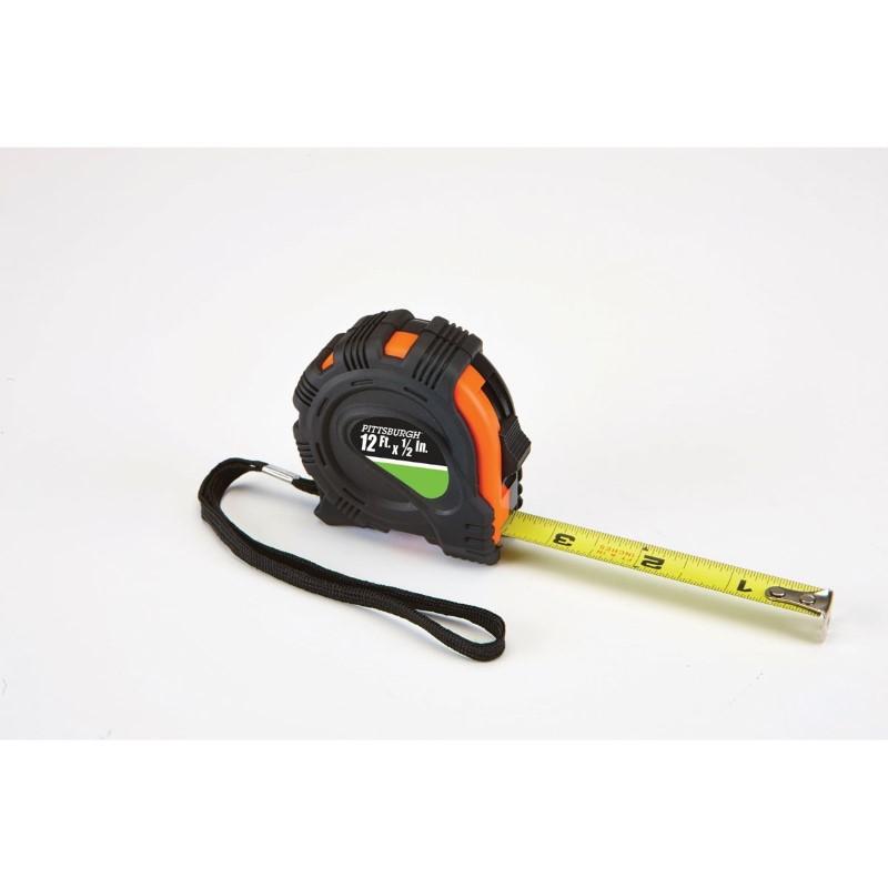 "PITTSBURGH PRO TOOLS Measuring Tool TAP MEASURE 12'X1/2"" 62464"