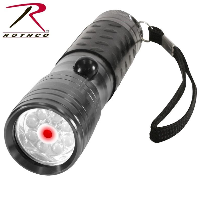 ROTHCO Flashlight LED FLASHLIGHT W/ RED LASER POINTER