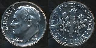 UNITED STATES Coin 1971 S DIME