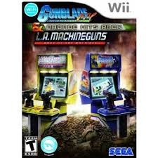 NINTENDO Nintendo Wii Game ARCADE HITS PACK GUNBLADE NY LA MACHINE GUNS