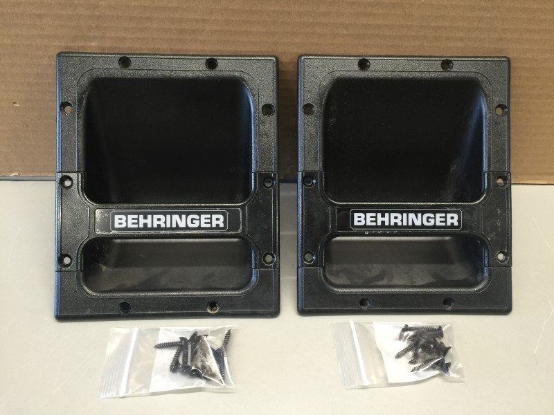 PAIR SIDE HANDLE INSERTS FOR BEHRINGER EUROLIVE PA SPEAKER CABINETS