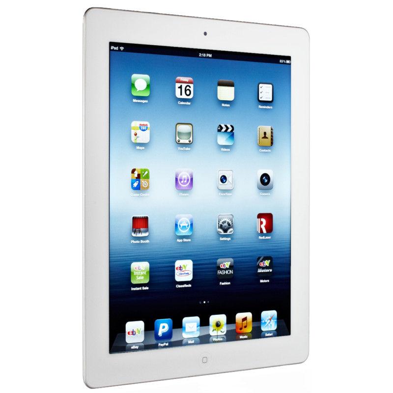 """Apple iPad 3 3rd Gen 32GB Wi-Fi + 4G (AT&T) Retina 9.7"""" - White"""