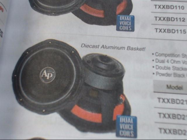 AUDIO PIPE Car Speakers/Speaker System TTXBD310