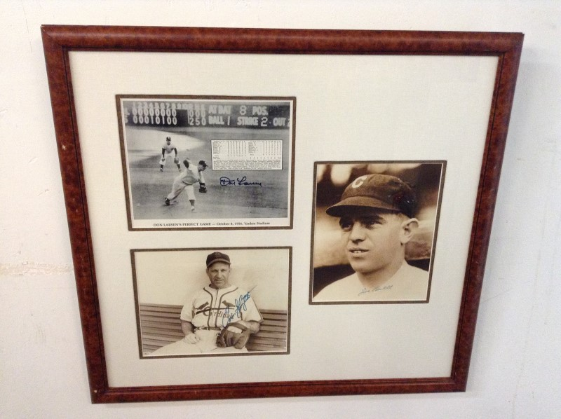 DON LARSEN Sports Memorabilia PERFECT GAME PHOTOGRAPH FRAMED