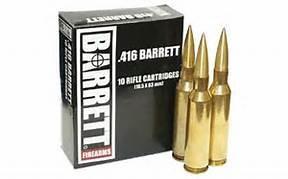 BARRETT FIREARMS Ammunition .416 BARRETT CARTRIDGES