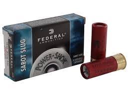 FEDERAL AMMUNITION Ammunition POWER SHOCK 12 GAUGE SLUG