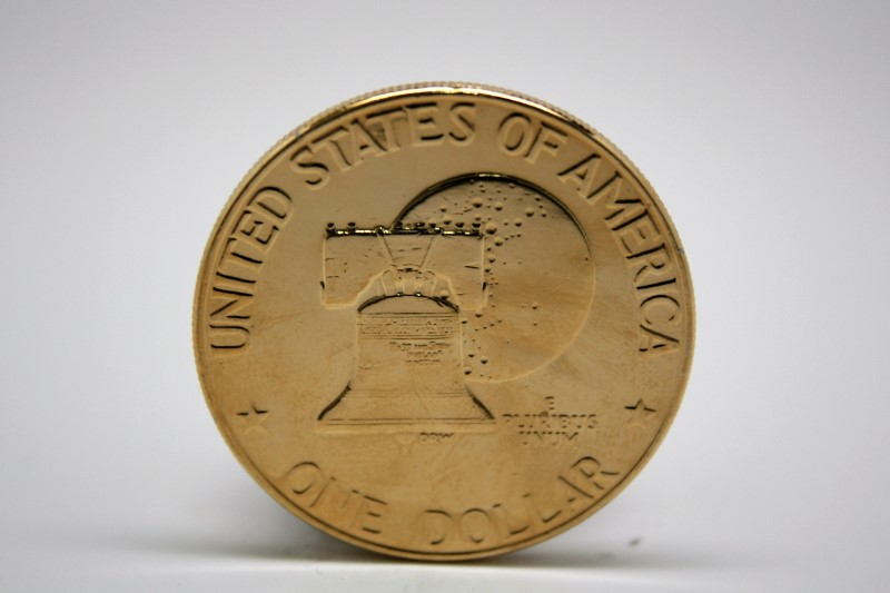 UNITED STATES 1776-1976 PLATED DOLLAR COIN