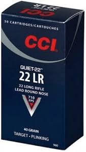 CCI AMMO Ammunition 22LR 40GR 50RD