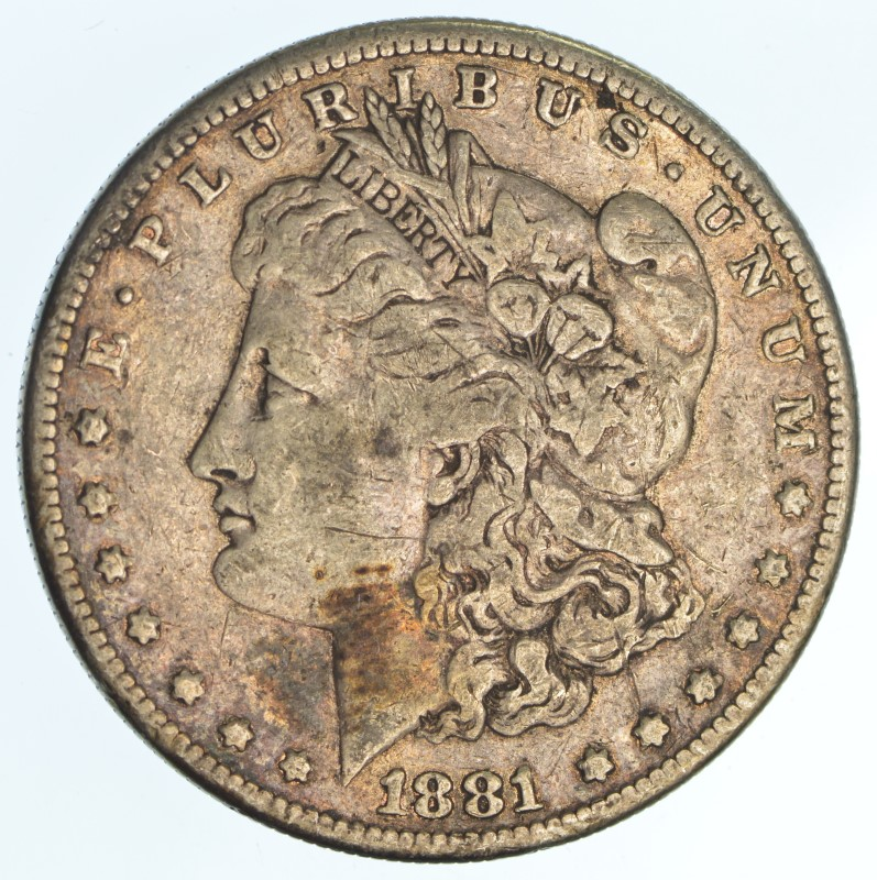 UNITED STATES Silver Coin 1881-S MORGAN