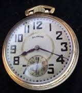ILLINOIS WATCH COMPANY Pocket Watch 17 JEWELS TIME KING