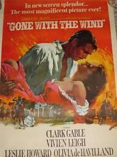 VINTAGE 1976 GONE WITH THE WIND 1939 PORTAL PUBLICATION MOVIE POSTER FULL COLOR