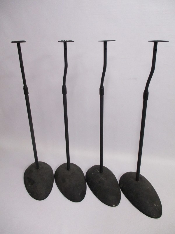 SET OF 4 SPEAKER STANDS - USED - PERFECT FOR SURROUND SOUND