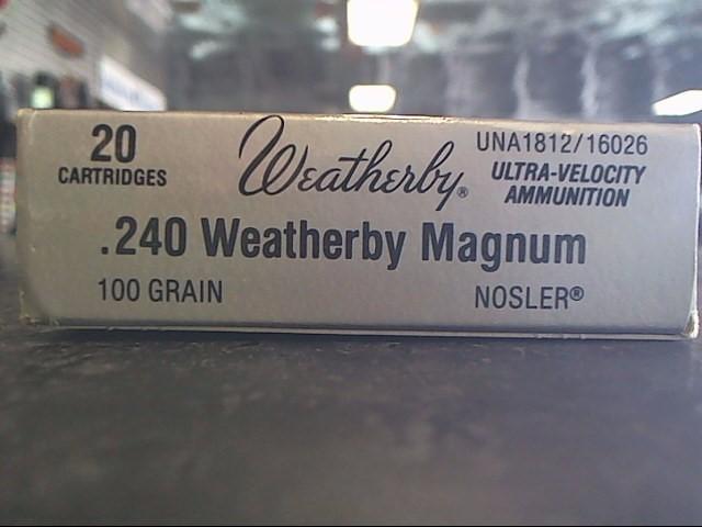 WEATHERBY Ammunition .240 WEATHERBY MAGNUM UNA1812