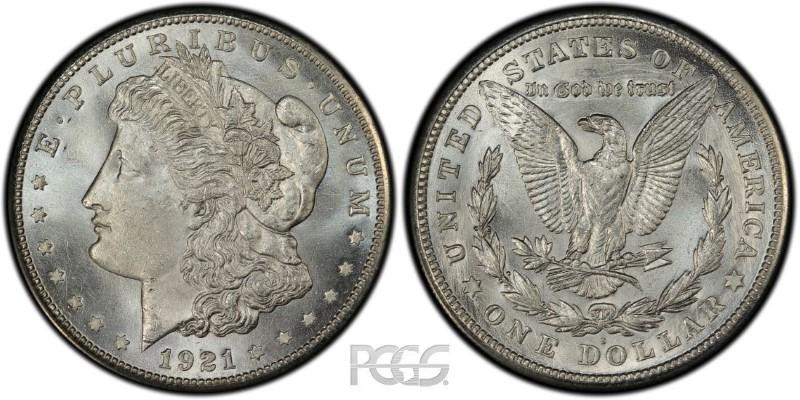 UNITED STATES Silver Coin 1921 S MORGAN