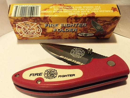 FROST CUTLERY Pocket Knife FIRE FIGHTER 15-242FF