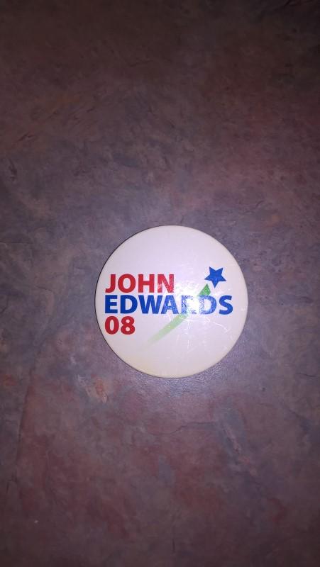 JOHN EDWARDS 08 BUTTON