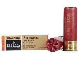 FEDERAL AMMUNITION Ammunition PFC157 00 12 GA 3 IN BUCKSHOT