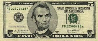 UNITED STATES Paper Money - World FIVE DOLLAR BILL