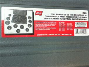 Lisle 61660 86mm 16-Flute End Cap Wrench Set