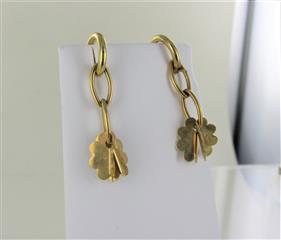 Gold Earrings 18K Yellow Gold 3.1dwt
