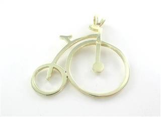 14K YELLOW GOLD PENDANT BICYCLE HALLMARK 2.1 GRAMS