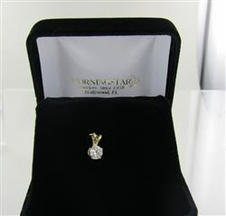 14 KT YELLOW GOLD DIAMOND PENDANT 0.3DWT/Y