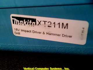 XT21M COMBO PACK MAKITA  X2 BATT, IX1 MPACT DRIVER X1 HAMMER DRILL, XT211M GREEN