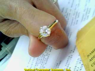 DIAMOND SOLITARE_DIMOND  L'S 10KT DIAMOND APPROZ 7.07 MM 2/YG