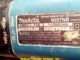 MAKITA Disc Grinder 9557NB