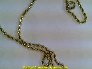 "20"" NO STONE(S) Gold Rope Chain 14K Yellow Gold 8.5dwt"