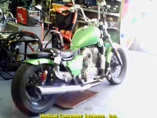 VT800 FOREIGN MOTORCYCLE HONDA   GREEN
