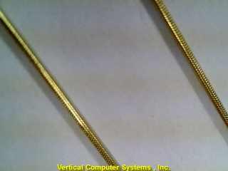 """20"""" Gold Snake Chain SNAKE_LNK,_ROSE_CHARM 14K Yellow Gold 4.6dwt"""