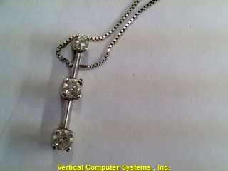 DIAMOND DIAMOND_PEND_CURB_LK CHAIN AND CHARM 10KT DIAMOND PW4278 1.2/WG