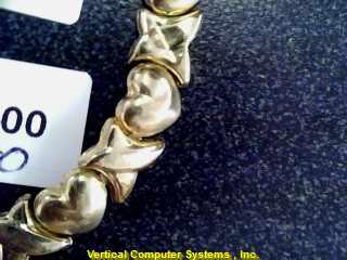 HEARTLINK  BRACELET L'S 10KT HEARTLINK X HEART LINK/ PW3955 2.7/YG