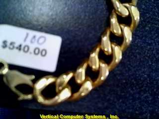 CURB LINK  BRACELET L'S 14KT CURB LINK PW3832 7.4/YG