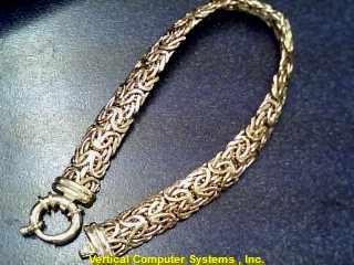 BYZANTINE Gold Byzantine Bracelet 14K Yellow Gold 7dwt