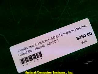 H55SC HAMMER/ROTARY DRILL HITACHI  CORDED, ID #4715 DEMOLITION HAMMER GREEN_GREY